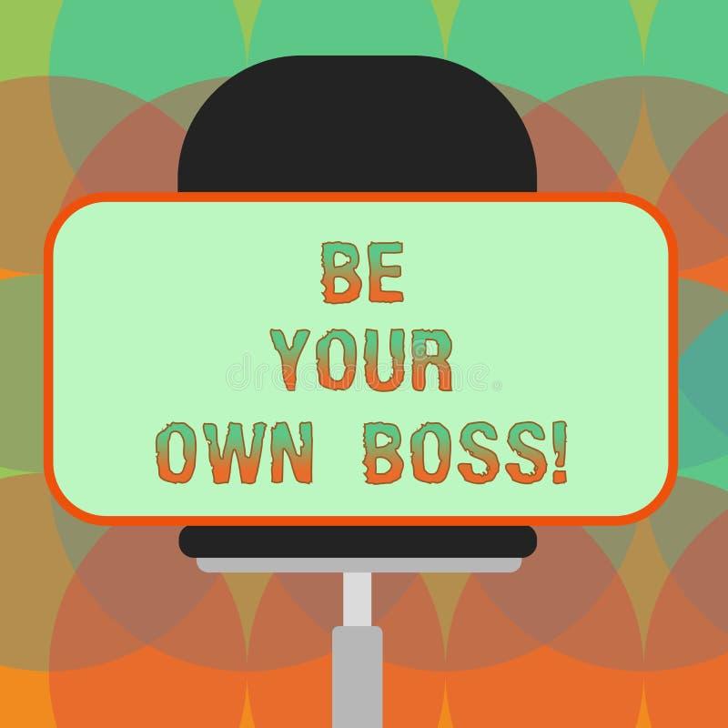 Słowa writing tekst Był Twój Swój szefem Biznesowy pojęcie dla przedsiębiorczość początku biznesowej niezależności Selfemployed p ilustracja wektor