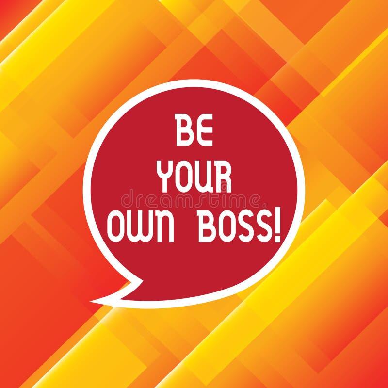Słowa writing tekst Był Twój Swój szefem Biznesowy pojęcie dla przedsiębiorczość początku biznesowej niezależności Selfemployed p royalty ilustracja