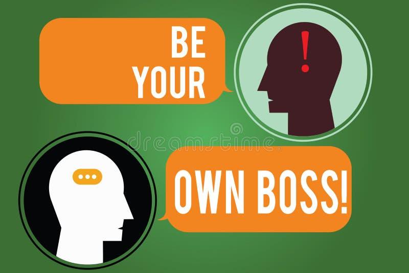 Słowa writing tekst Był Twój Swój szefem Biznesowy pojęcie dla przedsiębiorczość początku biznesowej niezależności Selfemployed ilustracja wektor