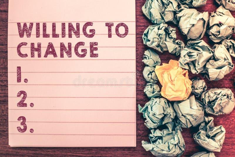 Słowa writing tekst Determinuje Zmieniać Biznesowy pojęcie dla pragnienia rosnąć Chętnego akceptować nowych pomysły i adoptować zdjęcie royalty free
