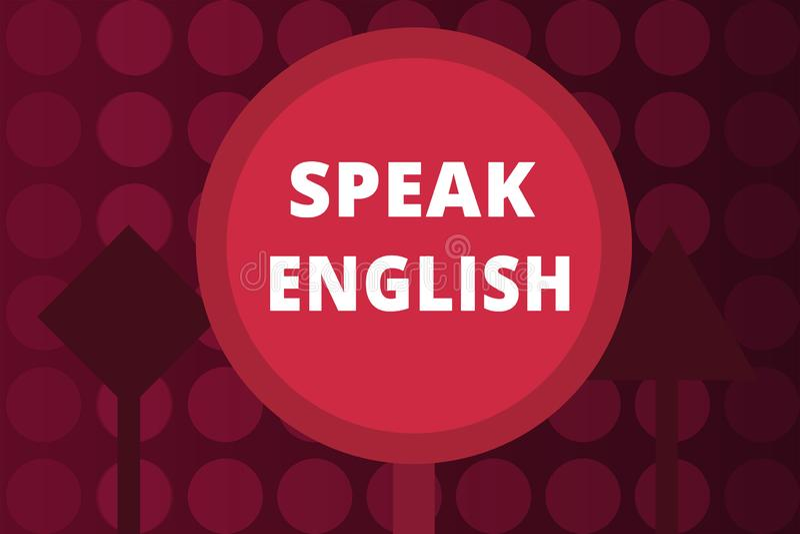 Słowa writing tekst Mówi angielszczyzny Biznesowy pojęcie dla nauki inni języków obcych Online Słowni kursy royalty ilustracja
