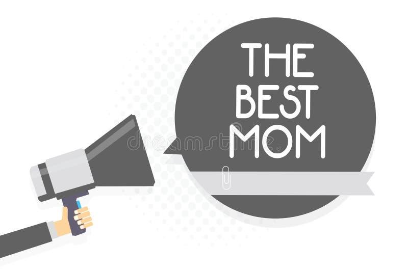 Słowa writing tekst Najlepszy mama Biznesowy pojęcie dla docenienia dla twój macierzystej miłości uczuć komplementu mężczyzna mie royalty ilustracja