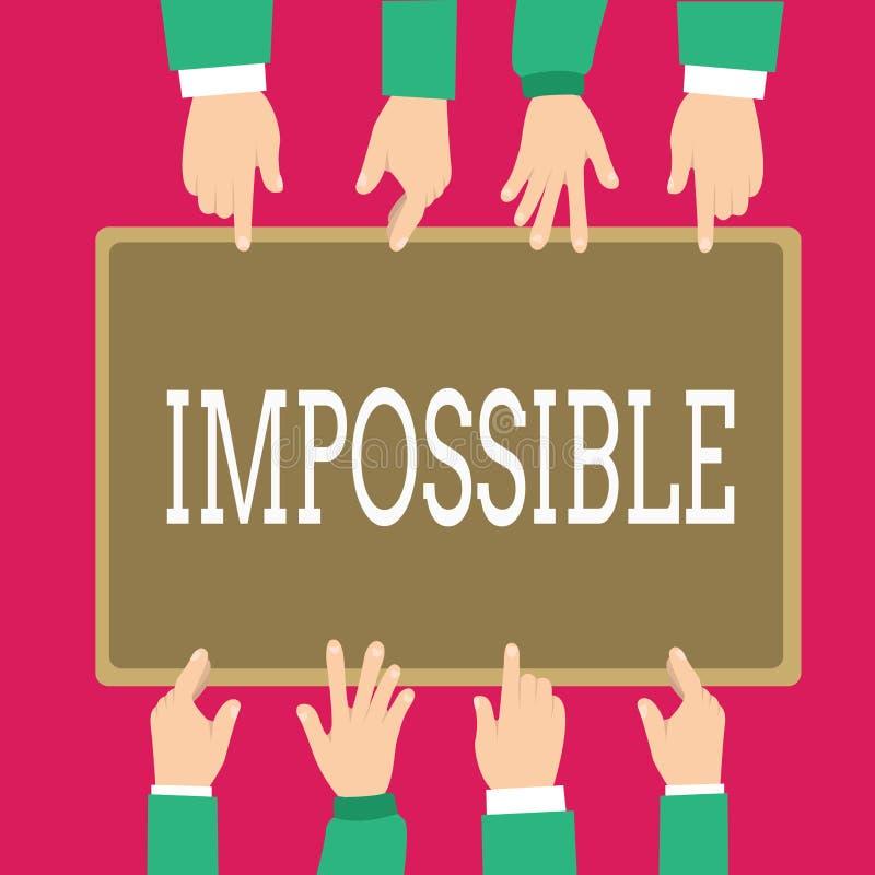 Słowa writing tekst Niemożliwy Biznesowy pojęcie dla sprawnie zdarzać się istnieje lub był robić Trudny Rzucać wyzwanie royalty ilustracja