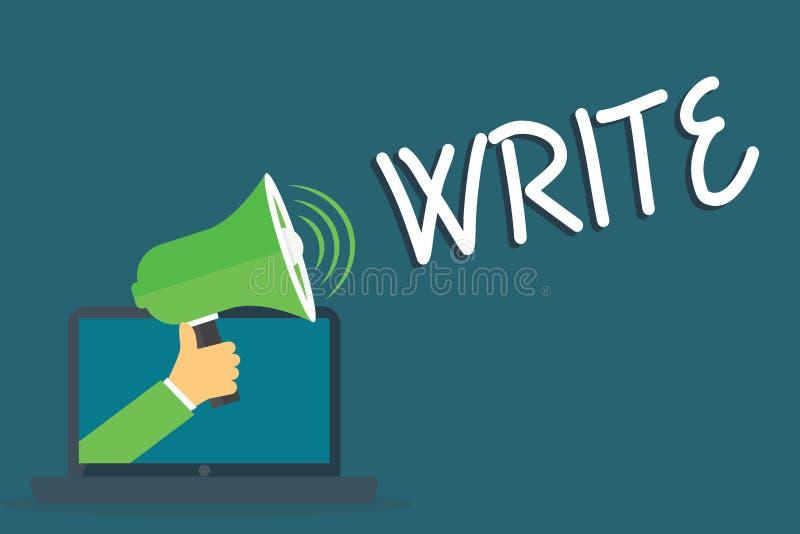 Słowa writing tekst Pisze Biznesowy pojęcie dla ocena listów słów lub symbole na powierzchni typowo tapetujemy z piórem ilustracja wektor