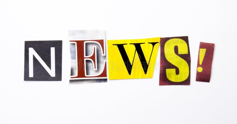 Słowa writing tekst pokazuje pojęcie robić różny magazyn gazety list dla Biznesowej skrzynki na białym tle wiadomość zdjęcia stock