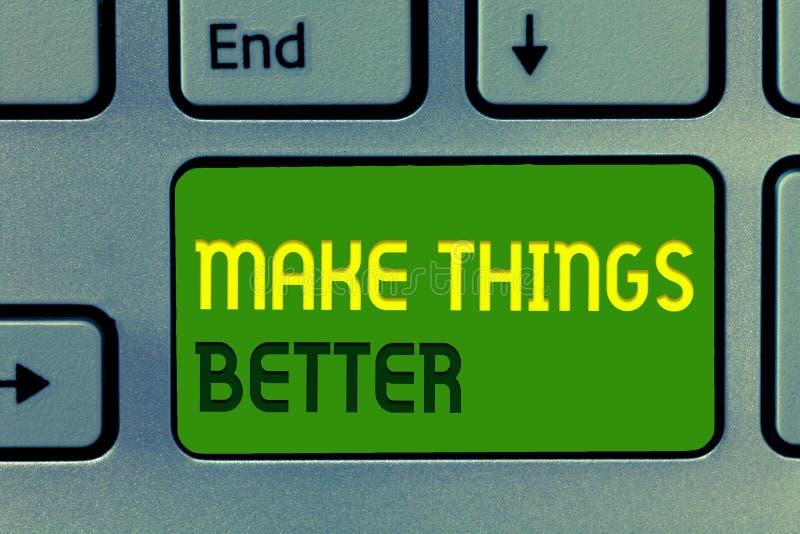 Słowa writing tekst Robi rzeczom Lepszy Biznesowy pojęcie dla Robi coś ono Ulepszać Był zmiany aktem zdjęcie stock
