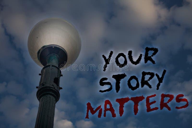 Słowa writing tekst Twój opowieści sprawy Biznesowy pojęcie dla części twój doświadczenie dzienniczka Ekspresowi uczucia w writin zdjęcie royalty free