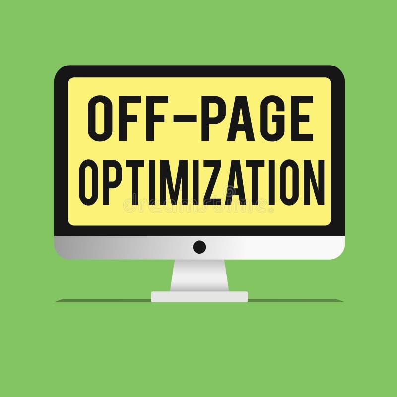 Słowa writing tekst Z strona optymalizacja Biznesowy pojęcie dla strony internetowej External procesu metody Promocyjny Zaliczać  royalty ilustracja