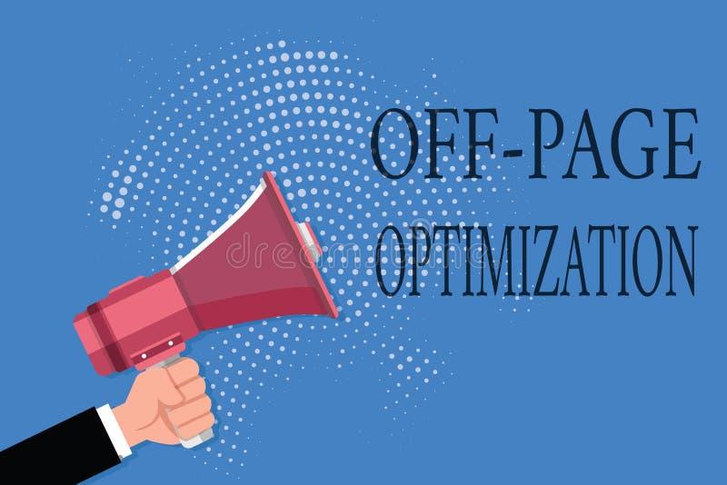 Słowa writing tekst Z strona optymalizacja Biznesowy pojęcie dla strony internetowej External procesu metody Promocyjny Zaliczać  ilustracja wektor