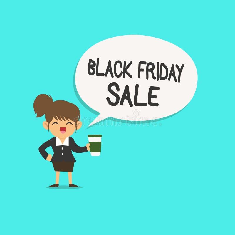 Słowa writing teksta Black Friday sprzedaż Biznesowy pojęcie dla Robić zakupy dnia początek Bożenarodzeniowy zakupy sezon ilustracja wektor