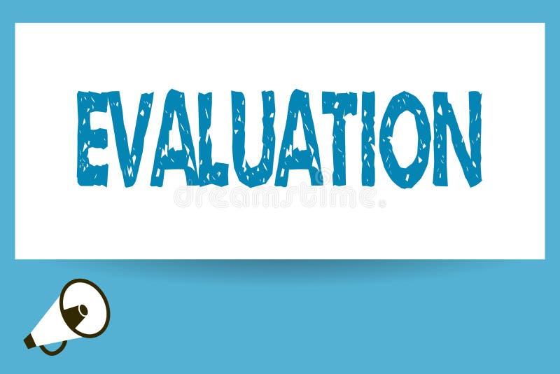 Słowa writing teksta cenienie Biznesowy pojęcie dla osądzenie informacje zwrotne Ocenia ilości perforanalysisce coś ilustracja wektor