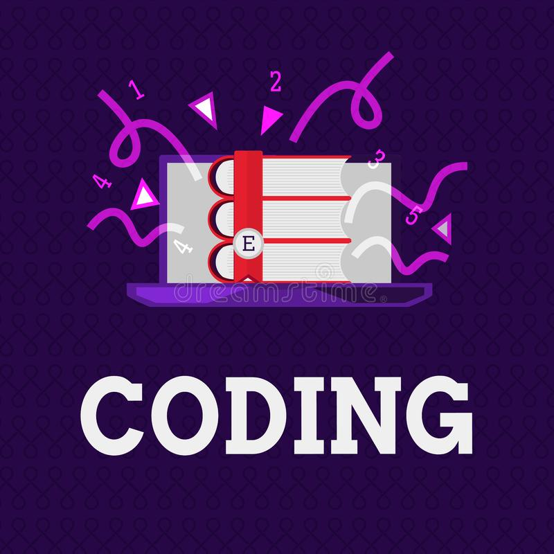 Słowa writing teksta cyfrowanie Biznesowy pojęcie dla wyznaczać kod coś dla klasyfikacyjnej identyfikaci ilustracji