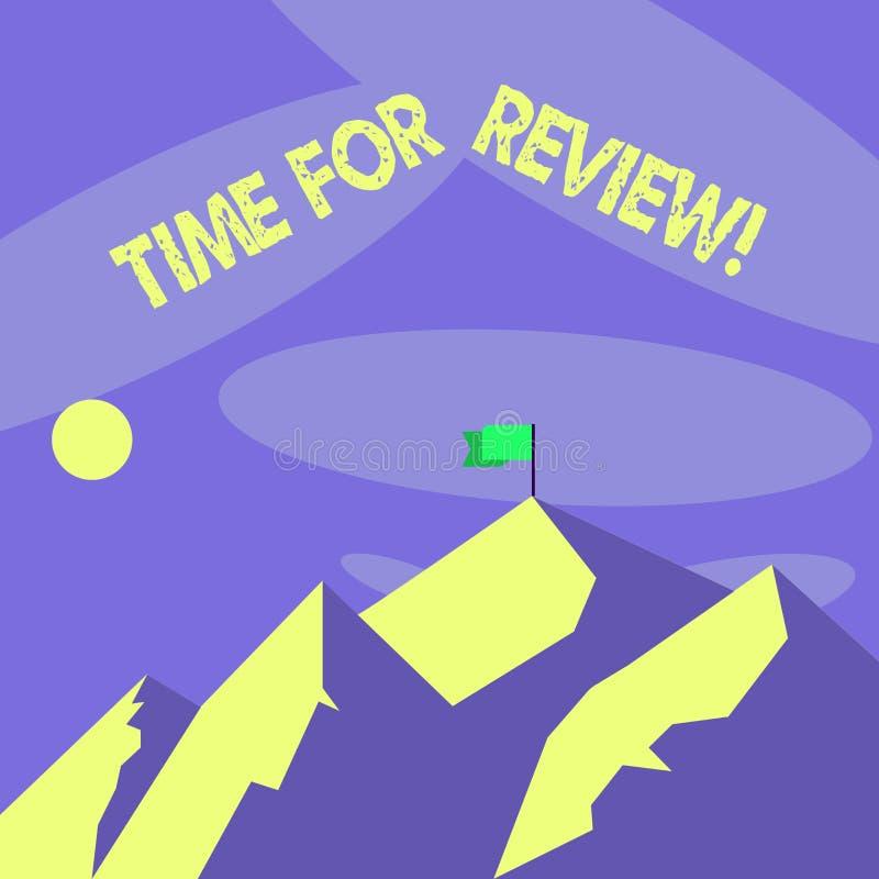 Słowa writing teksta czas Dla przeglądu Biznesowy pojęcie dla formalnej oceny coś z zamiarem ustanawia zmianę ilustracja wektor