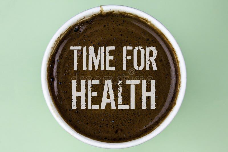 Słowa writing teksta czas Dla zdrowie Biznesowy pojęcie dla styl życia zmiany zdrowie świadomości wellness odżywiania opieki pisa zdjęcia royalty free