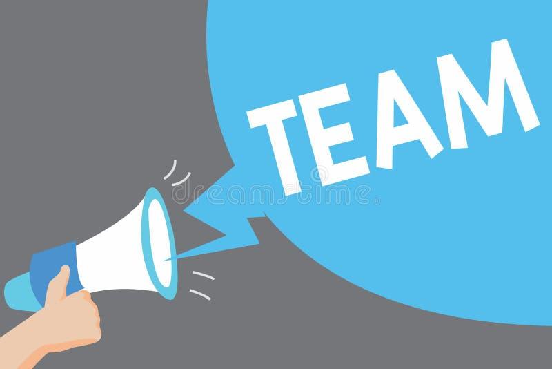 Słowa writing teksta drużyna Biznesowy pojęcie wpólnie Grupujący dla grupy ludzi pracuje i części pewnych wiar ilustracji