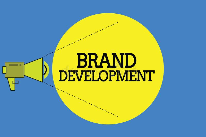 Słowa writing teksta gatunku rozwój Biznesowy pojęcie dla Definiować produkt przodować w targowy Promować royalty ilustracja