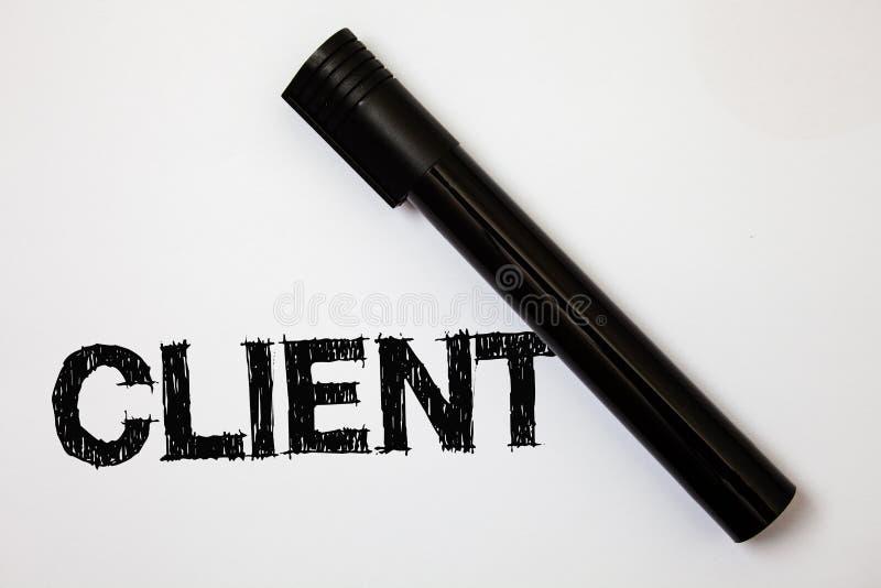 Słowa writing teksta klient Biznesowy pojęcie dla kupującego klienta kupującego użytkownika perspektywy udziałowa inwestora nabyw zdjęcia stock