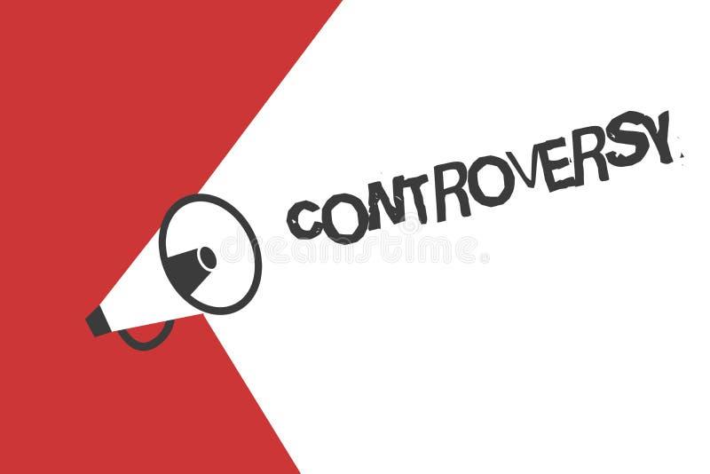Słowa writing teksta kontrowersja Biznesowy pojęcie dla nieporozumienia lub argument o coś znacząco pokazywać ilustracja wektor