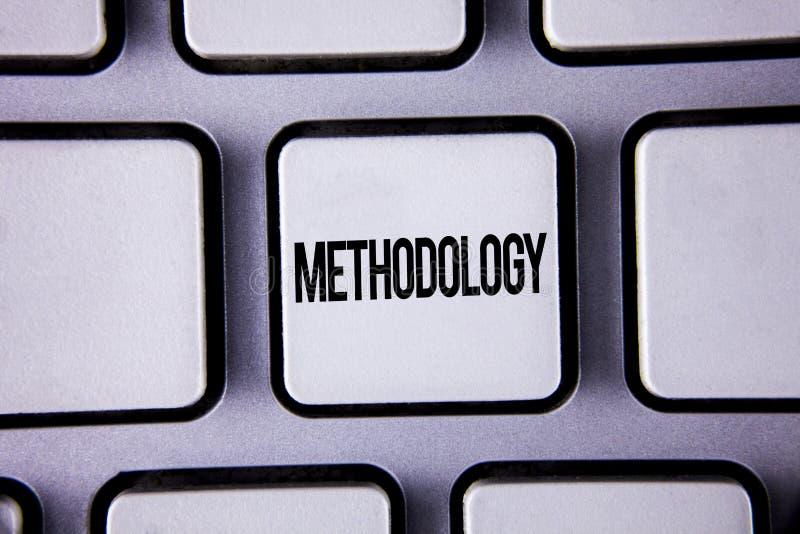 Słowa writing teksta metodologia E zdjęcia stock