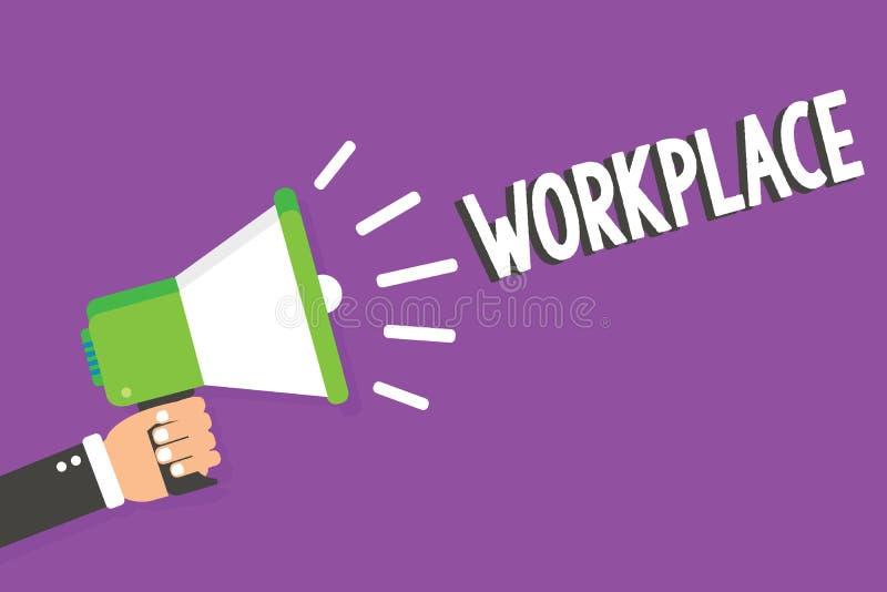 Słowa writing teksta miejsce pracy Biznesowy pojęcie dla terenu dokąd ty możesz znajdować ruchliwie ludzi robi ich akcydensowych  royalty ilustracja