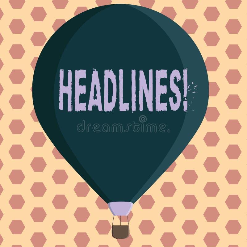 Słowa writing teksta nagłówki Biznesowy pojęcie dla Przewodzić przy wierzchołkiem artykuł strona w magazynie lub gazecie ilustracji