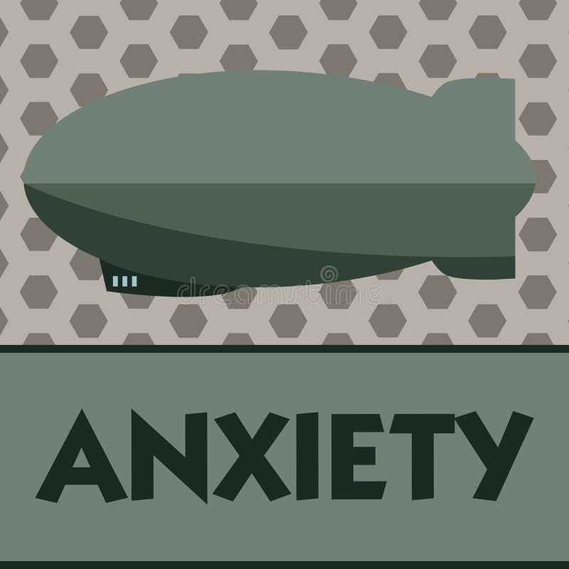 Słowa writing teksta niepokój Biznesowy pojęcie dla Przesadnego uneasiness i obawy ataka paniki syndromu ilustracja wektor