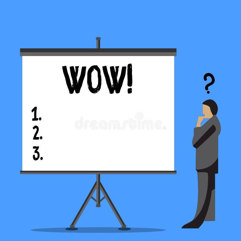 Słowa writing teksta no! no! Biznesowy pojęcie dla wyrażenia somebody bezmowny zadziwiający rozradowany biznesmen z pytaniem ilustracji