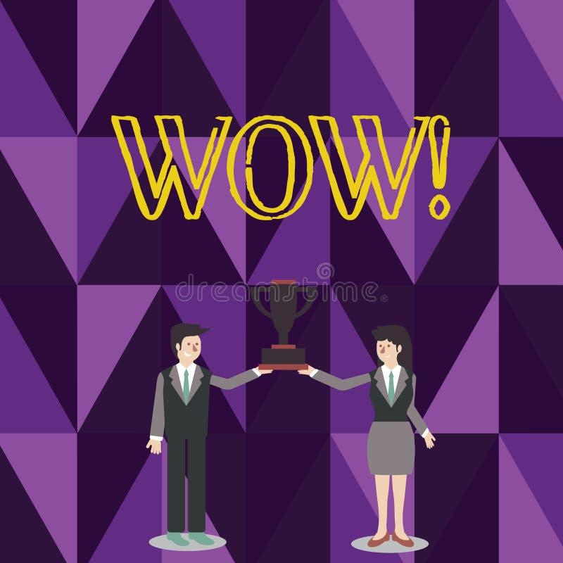 Słowa writing teksta no! no! Biznesowy pojęcie dla wyrażenia somebody bezmowny zadziwiający rozradowany mężczyzna i kobieta w biz royalty ilustracja