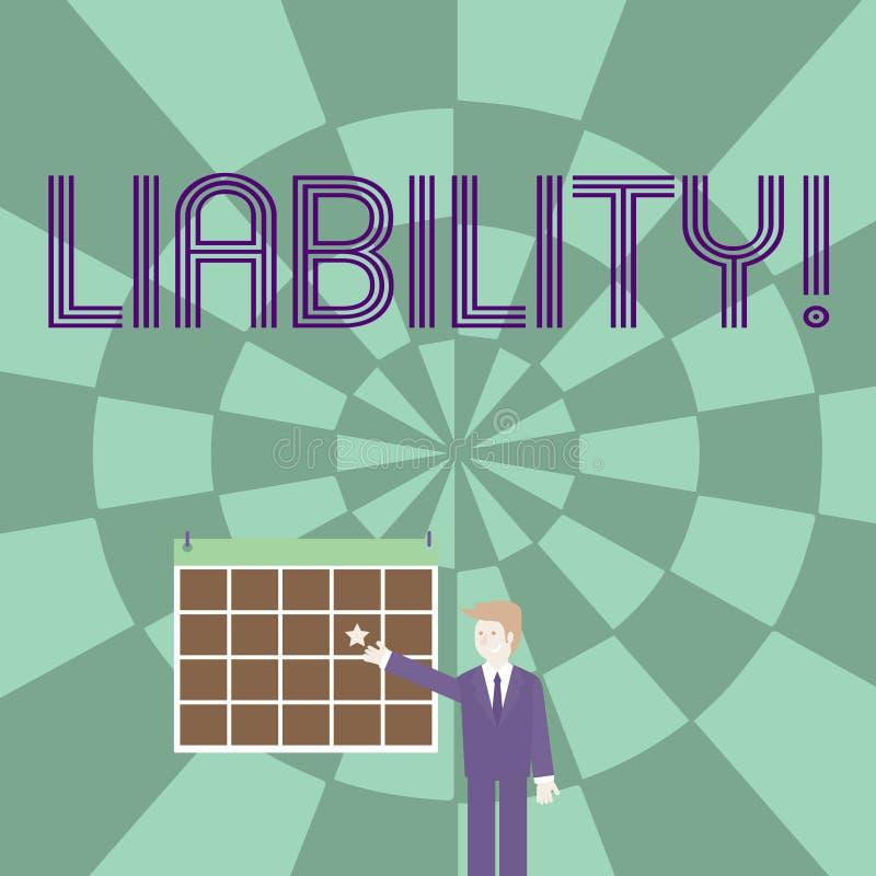 Słowa writing teksta odpowiedzialność Biznesowy pojęcie dla stanu być legalnie odpowiedzialny dla coś odpowiedzialność ilustracja wektor