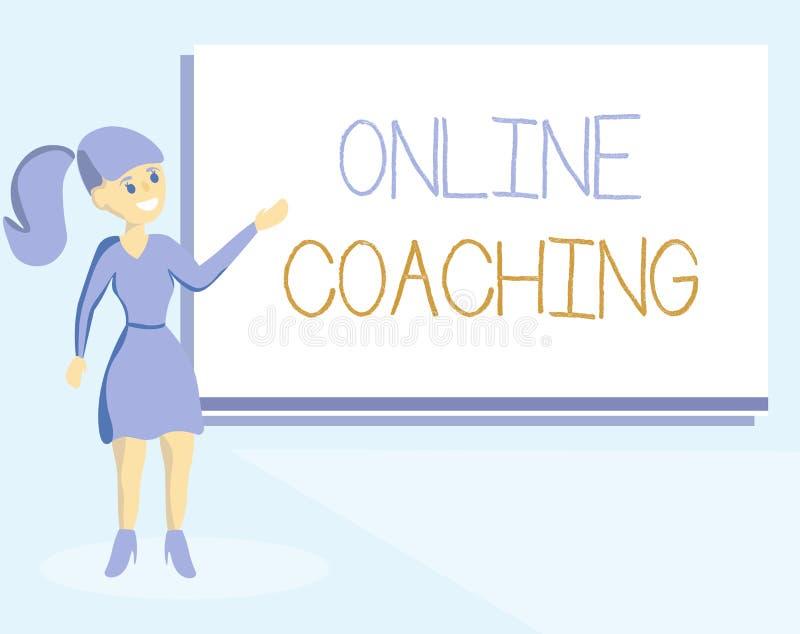 Słowa writing teksta Online trenowanie Biznesowy pojęcie dla Uczyć się od online i internet z pomocą trenera ilustracja wektor