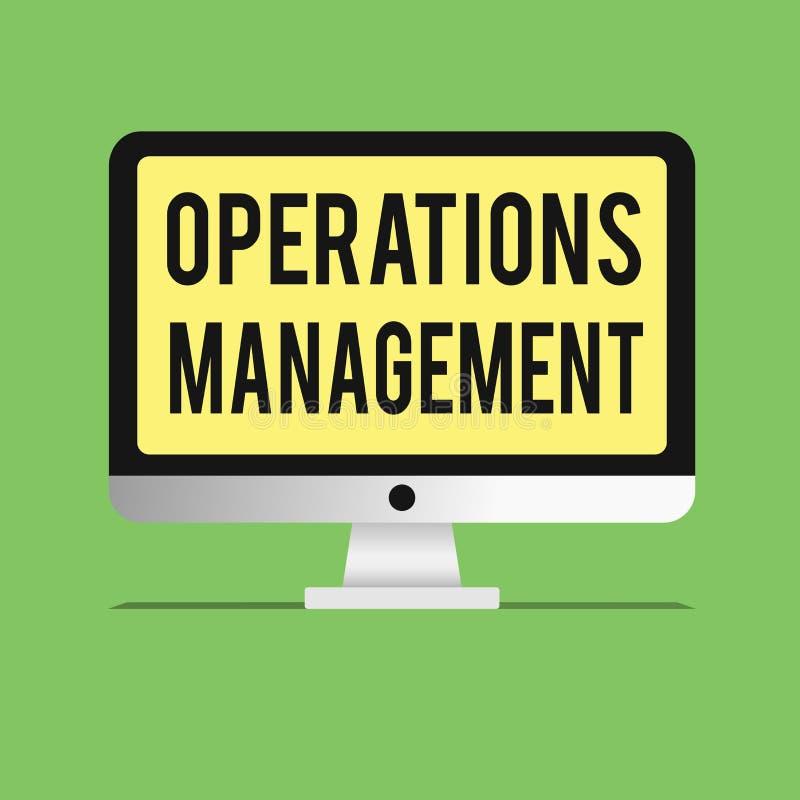 Słowa writing teksta operacj zarządzanie Biznesowy pojęcie dla zapewnia wkłady Przesyłać zaopatrzenie i produkcję ilustracja wektor