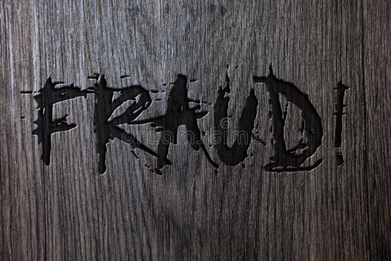 Słowa writing teksta oszustwa Motywacyjny wezwanie Biznesowy pojęcie dla Kryminalnego łudzenia dostawać pieniężnym lub osobistym  ilustracji