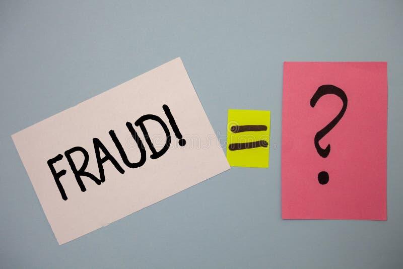 Słowa writing teksta oszustwa Motywacyjny wezwanie Biznesowy pojęcie dla Kryminalnego łudzenia dostawać pieniężnym lub osobistym  obrazy stock