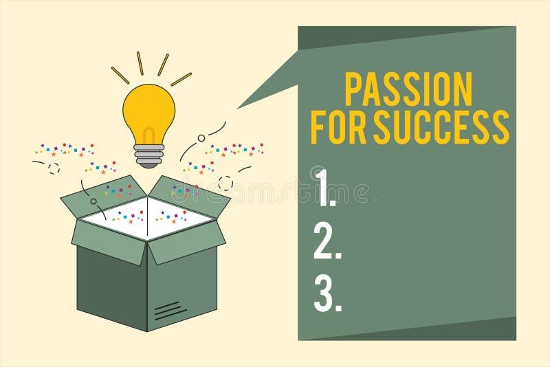 Słowa writing teksta pasja Dla sukcesu Biznesowy pojęcie dla entuzjazm gorliwości przejażdżki motywaci ducha etyk ilustracja wektor