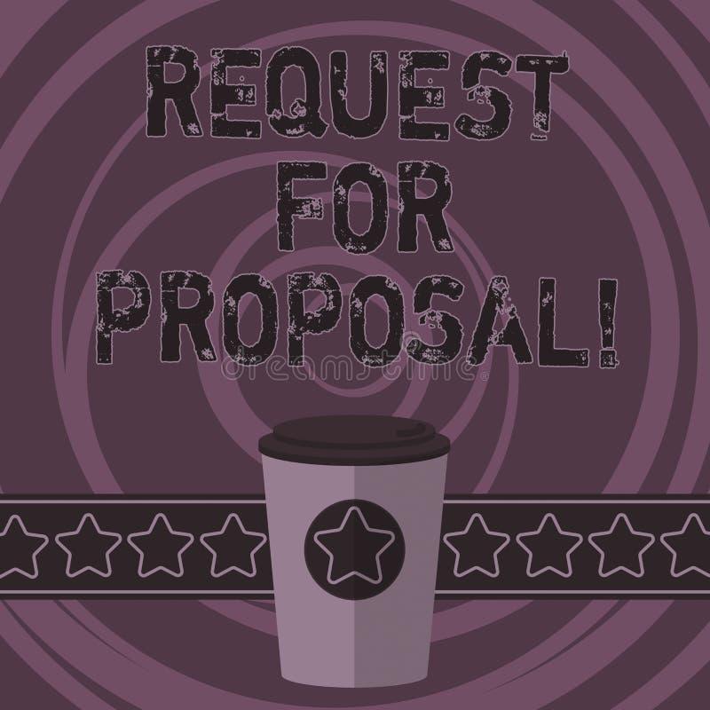 Słowa writing teksta prośba Dla propozyci Biznesowy pojęcie dla dokumentu który zabiegać o coś propozycję zrobił przez licytuje 3 royalty ilustracja