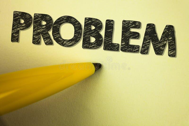 Słowa writing teksta problem Biznesowy pojęcie dla kłopotu który potrzebuje być rozwiązującym Trudnym sytuaci komplikacją pisać n fotografia stock