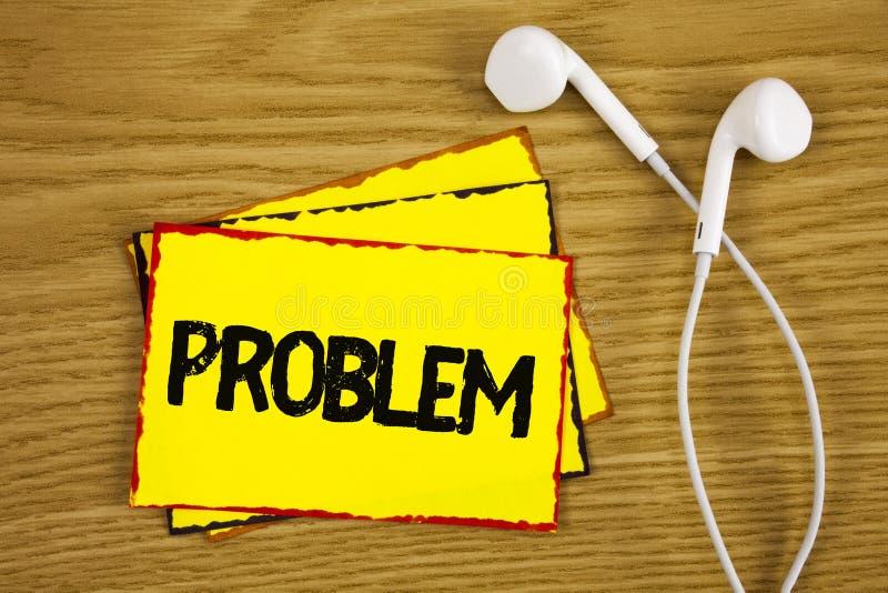 Słowa writing teksta problem Biznesowy pojęcie dla kłopotu który potrzebuje być rozwiązującym Trudnym sytuaci komplikacją pisać n fotografia royalty free