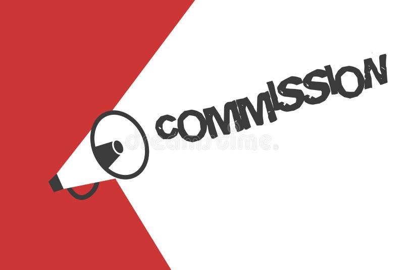 Słowa writing teksta prowizja Biznesowy pojęcie dla instrukci comanalysisd rola dawać grupa lub demonstrować royalty ilustracja