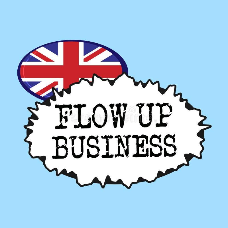 Słowa writing teksta przepływ W górę biznesu Biznesowy pojęcie dla pieniądze który rusza się do i z twój firm royalty ilustracja