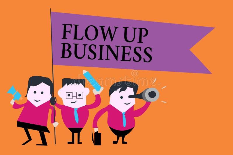 Słowa writing teksta przepływ W górę biznesu Biznesowy pojęcie dla pieniądze który rusza się do i z twój firm ilustracja wektor