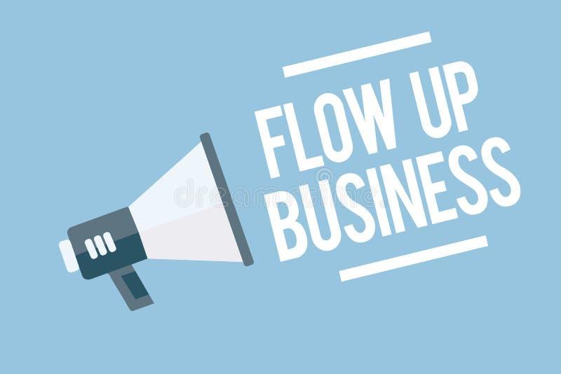 Słowa writing teksta przepływ W górę biznesu Biznesowy pojęcie dla pieniądze który rusza się do i z twój firma megafonu głośnika  ilustracji