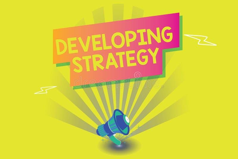 Słowa writing teksta Rozwija strategia Biznesowy pojęcie dla organizacja procesu Zmienia dosięgać cele royalty ilustracja