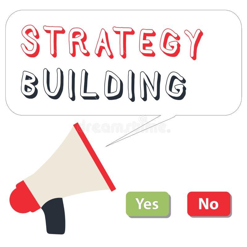 Słowa writing teksta strategii Budować Biznesowy pojęcie dla Wspierać kupienie i nabywanie inny platformy royalty ilustracja