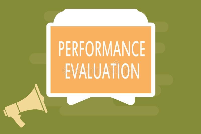 Słowa writing teksta występu cenienie Biznesowy pojęcie dla Oceniałem pracownika występu kombinezonu wkładu ilustracji