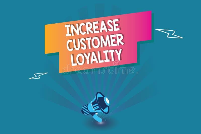 Słowa writing teksta wzrosta klienta lojalność Biznesowy pojęcie dla zakup pewnej rzeczy w szczególnym sklepie Zgodnie ilustracji
