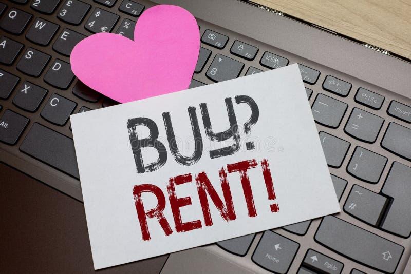 Słowa writing teksta zakupu pytania czynsz Biznesowy pojęcie dla grupy która daje informaci o wynajmowanie domów papieru Romantyc obrazy royalty free