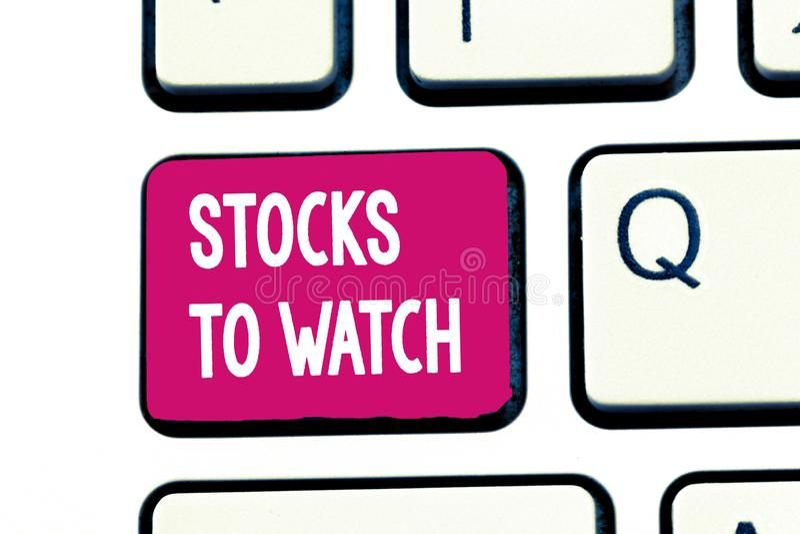 Słowa writing teksta zapasy Oglądać Biznesowy pojęcie dla być ciężkim maklerem i ogląda każdy przyrostowego zmniejszanie zdjęcia stock