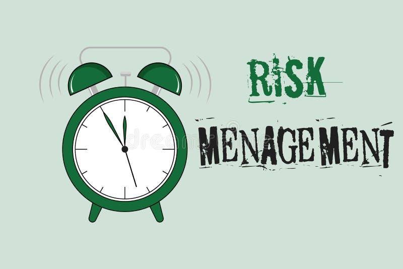 Słowa writing teksta zarządzanie ryzykiem Biznesowy pojęcie dla cenienia pieniężni zagrożenia lub problemy z procedurami ilustracji