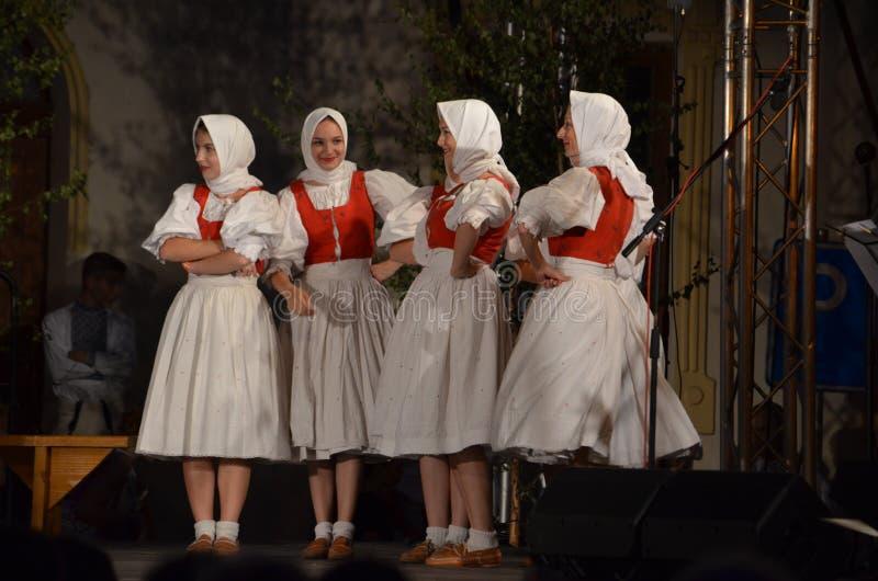 Słowaccy folklorów tancerze Terchova zdjęcie stock