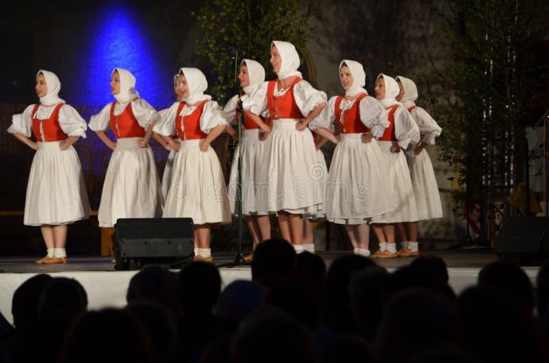 Słowaccy folklorów tancerze Terchova obraz royalty free